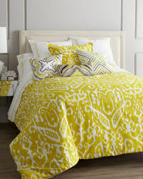 trina turk ikat bed linens horchow color chartreuse