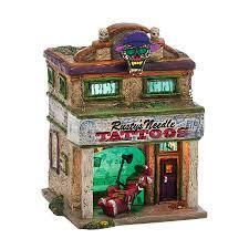 department 56 peanuts halloween snow village halloween rusty u0027s needle department 56 corner