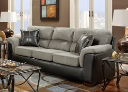 Kenton Fabric 2 Piece Sectional Sofa by Grey Suede And Black Leather Couch Home Decor And Furniture