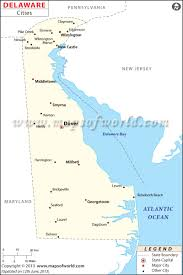 Map Of Florida Cities And Towns by Cities In Delaware Map Of Delaware Cities