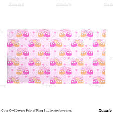 cute owl lovers pair of king size pillowcases cute owl