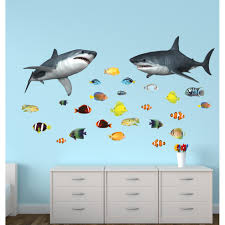 stickers giant with shark wall decor for nursery or baby room wall stickers giant with shark wall decor for nursery or baby room