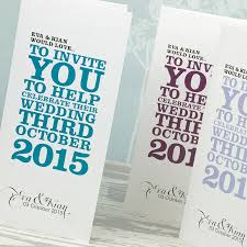 folded invitation wordie three fold wedding invitation by love wedding print