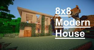 minecraft house design 8x8 modern house youtube
