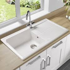 Ceramic White Kitchen Sink - Ceramic white kitchen sink