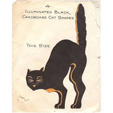 illuminated halloween decorations illuminated black cat halloween decoration hall brothers 1928 from