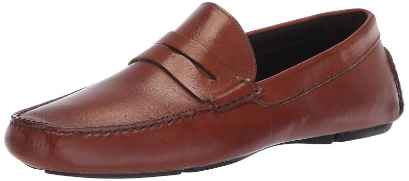 Bruno Magli Napoli BM600432 Brown Leather Casual Slip On Loafers Shoes