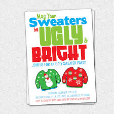 ugly sweater christmas party invitations template home