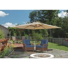 Ace Hardware Patio Umbrellas by Outdoor Expressions 10 Ft Square Steel Offset Patio Umbrella