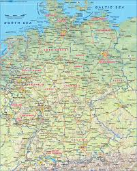 Map Germany by Map Of Germany Physical Map In The Atlas Of The World World Atlas