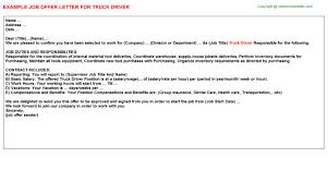 Driver Job Cover Letter Sample