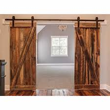 vintage office door with frosted glass barn sliding door track kit amazoncom homcom rustic cross