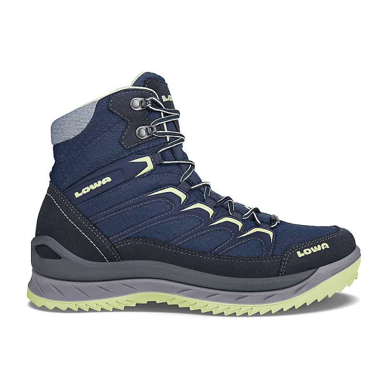 Lowa Innox Ice GTX Mid Winter Hiking Boot Navy/Mint 7.5 Medium 4206026908-NAVMNT-M075