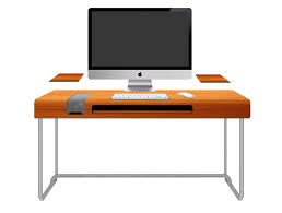 White Bedroom Desk Furniture by Modern Orange Computer Desk Design With Black Keyboard And White