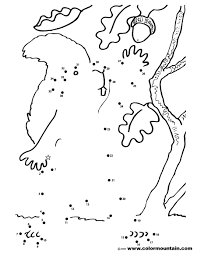 squirrel dot to dot color picture create a printout or activity
