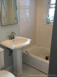 removing a bathroom vanity u0026 installing a pedestal sink