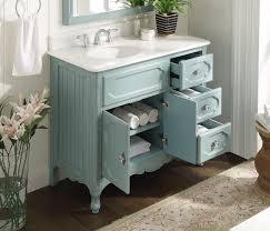 42 inch bathroom vanity victorian vintage style light blue color