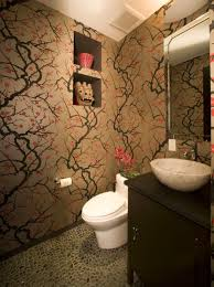 Wallpaper In Bathroom Ideas The Beauty Of Cherry Blossom Wallpaper