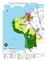 Florida Area Code Map by Zoning Districts City Of Punta Gorda Fl