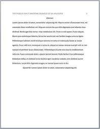 Thesis Proposal  Example of Outline and Structure