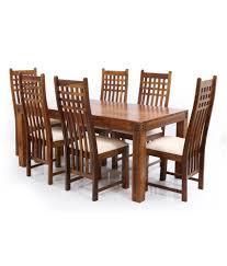 ethnic india art nia sheesham wood 6 seater dining set buy ethnic india art nia sheesham wood 6 seater dining set