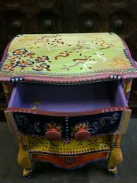 Hand Painted Furniture by Hand Painted Furniture Sixties Vintage Night Stand Painted U2026 Flickr