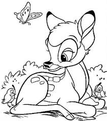 bambi coloring pages and friends coloringstar