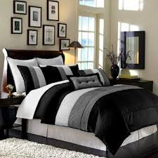 Red King Comforter Sets Bedroom Luxury Embossed Solid Oversized Bedding With Black And