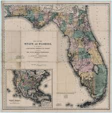 Map Of Florida Cities And Towns by Florida State Maps 1880 1899
