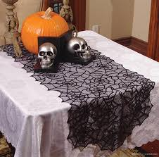 halloween table cloth halloween fancy elegant gothic decor sheer black lace spider web