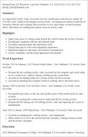 Liaison Resume Sample by Professional Jewelry Sales Associate Templates To Showcase Your