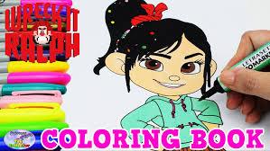 disney coloring book vanellope wreck ralph episode surprise egg