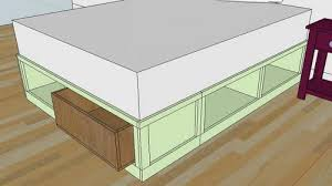 Platform Storage Bed Plans With Drawers by Ana White Drawers For The Queen Sized Storage Bed Diy Projects