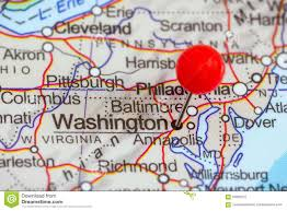 Washington Dc Usa Map by Pin On A Map Of Washington Stock Photo Image 55995272