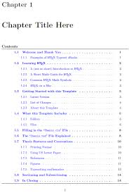 table of contents Minitoc thesis template pdflatex TeX     FAMU Online