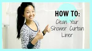 how to clean your shower curtain liner now u0026jenn youtube
