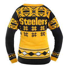pittsburgh steelers women u0027s nfl v neck ugly sweater walmart com