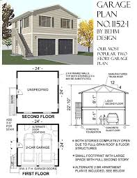 garage plans two car two story garage with apartment outside