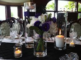 Black Centerpiece Vases by Cylinder Vases On Table Create Beautiful And Fresh Centerpiece