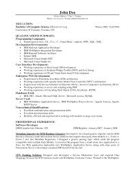 Entry Level Resume Examples by Entry Level Resume Examples For Computer Science Contegri Com