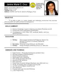 Java Resumes Sample Resume For Ojt Architecture Student Resume For Your Job