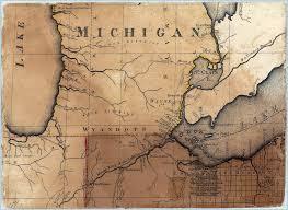 Detroit Michigan Map by 1808 Michigan Map