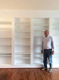 Ikea Bookshelves Built In by Best 25 Custom Bookshelves Ideas On Pinterest Built In Bookcase