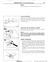 mitsubishi montero 1987 1 g workshop manual