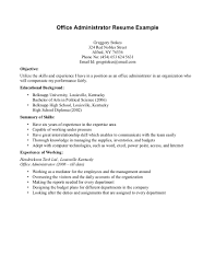 Sample Resume Of Office Administrator by How To Write A Resume Previous Work Experience Equations Solver