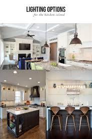lighting options over the kitchen island