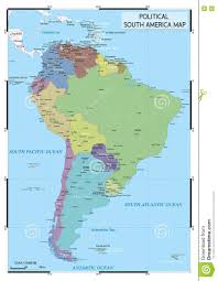 Political Map Of Latin America by Political South America Map Stock Vector Image 80889325