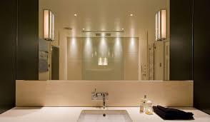 bathroom lighting fixtures transparent glass door brushed vanity