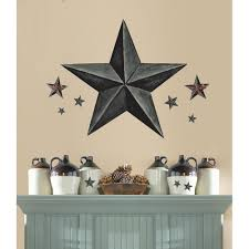 burgundy barn star giant wall decals country kitchen stars new giant slate gray barn star wall decals country kitchen stars stickers decor
