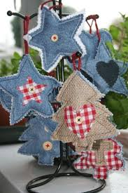 what can you make out of old jeans ornament tree decorations
